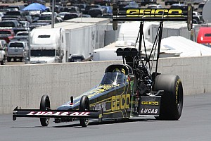 NHRA Qualifying report Lucas sees good fortune ahead for GEICO dragster in Brainerd