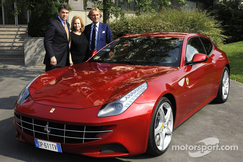 Governor Perry of Texas meets Ferrari Chairman Montezemolo