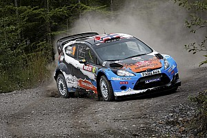 WRC Leg report Østberg places his Adapta Ford fourth on day one of Wales Rally GB