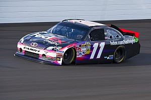 NASCAR Cup Interview Hamlin trying to get more qualifying speed at Kansas