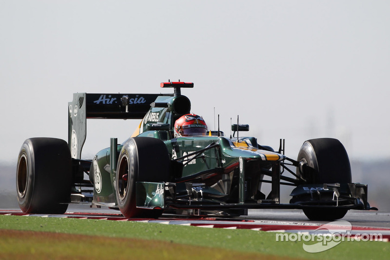 Caterham drivers work on learning Austin track in Friday practice