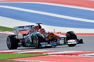 Formula 1 Race report Sahara Force India's Hulkenberg score points again on US GP