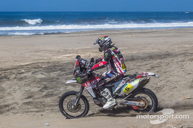 Barreda rides his Husqvarna to stage 4 victory