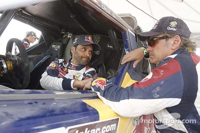 Al-Attiyah wins stage 6 as his teammate Sainz retires