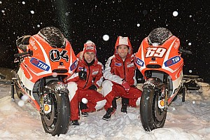 MotoGP Breaking news Ducati riders unveil new machine & livery for 2013 MotoGP championship