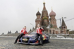 DTM Breaking news World premiere on Red Square: Audi A5 DTM in Moscow