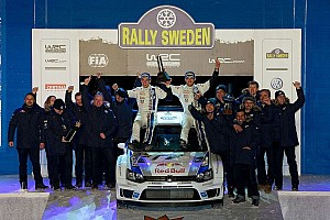 WRC Race report Ogier and Ingrassia conquer the Swedish snow to hand Volkswagen maiden victory