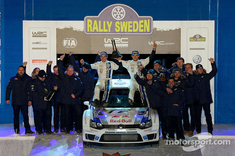 Ogier and Ingrassia conquer the Swedish snow to hand Volkswagen maiden victory