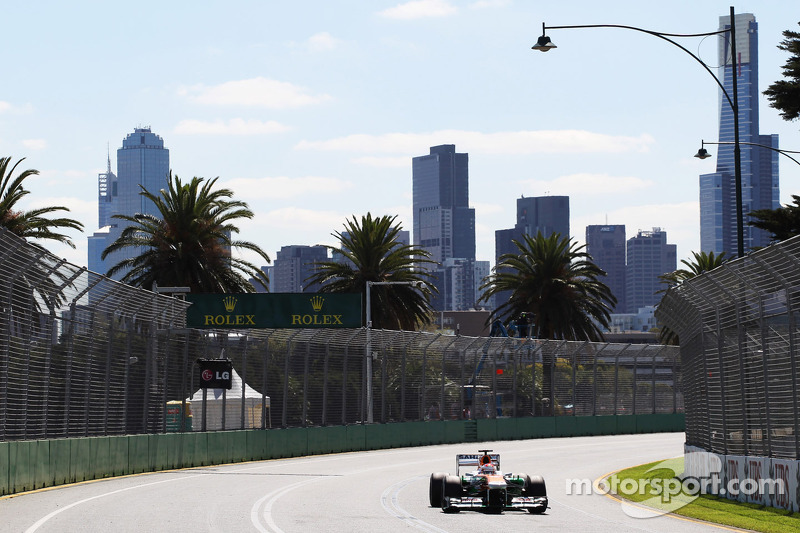 A positive start to the season for Sutil and Di Resta practicing for the Australian GP
