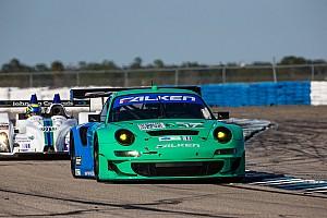 ALMS Race report Henzler, Tandy, Sellers third in GT at 12 Hours of Sebring in Falken Porsche