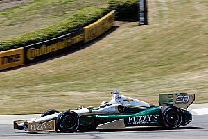 IndyCar Qualifying report Carpenter improves his speed in qualifying at Barber