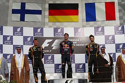 Clean swep of Bahrain Grand Prix podium for Renault engines