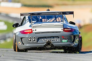 Grand-Am Race report Magnus Racing Porsche Mid-Ohio second place recaptures GRAND-AM GT points lead from back of the grid