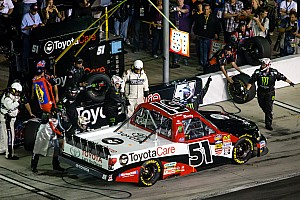 NASCAR Truck Race report Kyle Busch comes homes third in Kentucky 225