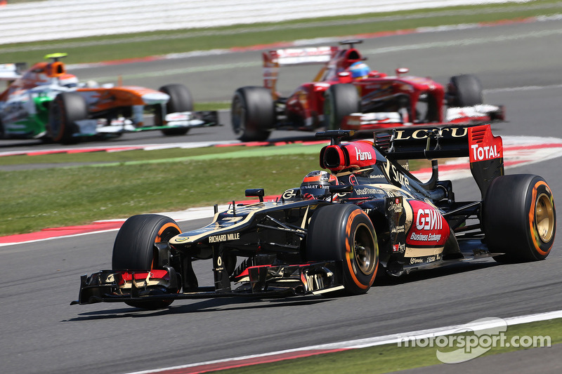 Lotus' Raikkonen set a new record with his fifth position on British GP