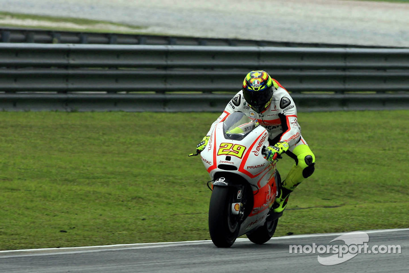 First day of practice at MotorLand Aragon for Andrea Iannone