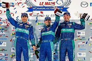 ALMS Race report Team Falken Tire wins Petit Le Mans; Magnussen, Garcia win title