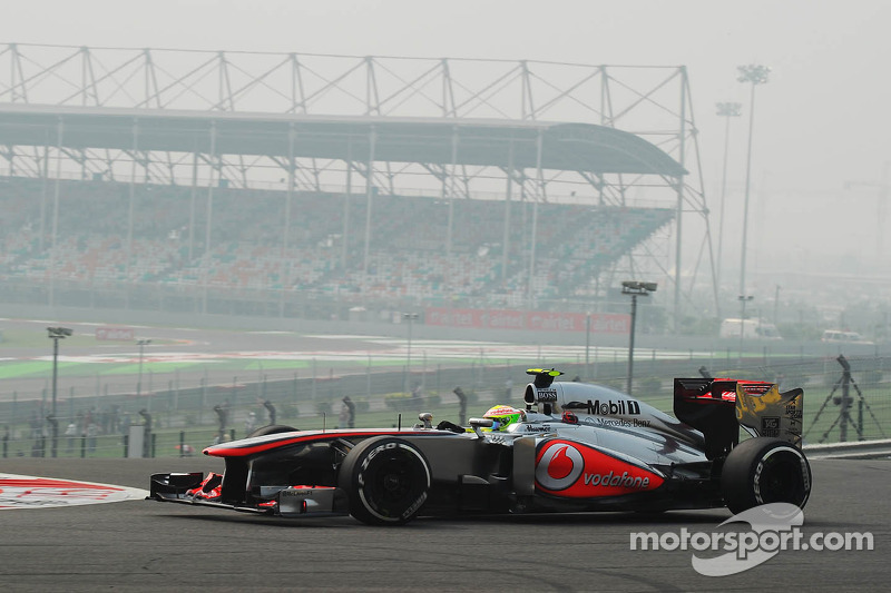 McLaren drivers secure 5th starting row for tomorrows Indian race