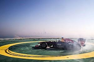 Formula 1 Breaking news Infiniti Red Bull Racing celebrates in style on Burj Al Arab helipad - Video