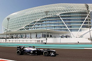 Formula 1 Practice report Williams tested development package for 2014 on Friday practice for Abu Dhabi GP