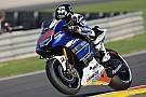 Yamaha's Lorenzo blazes to Valencia front row