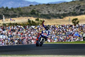 MotoGP Race report Victorious Lorenzo uses all his skill to win at Valencia
