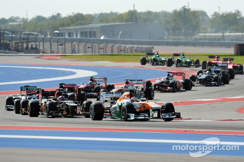 Sahara Force India missed out on points at the Circuit of The Americas