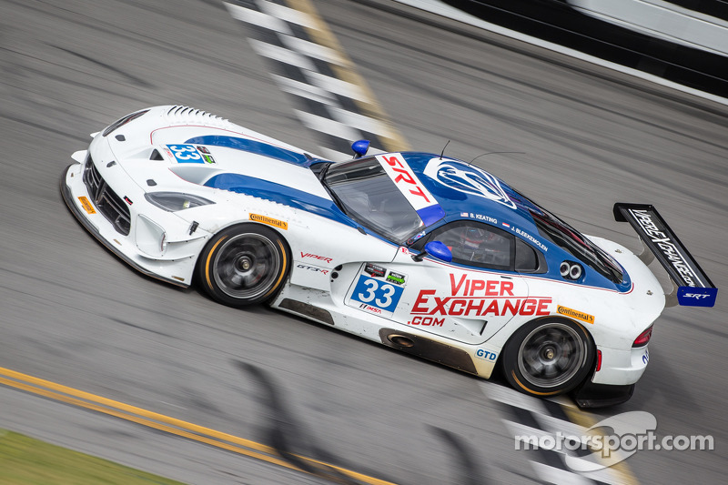 Ben Keating and the No. 33 Viper GT3-R return test at Daytona