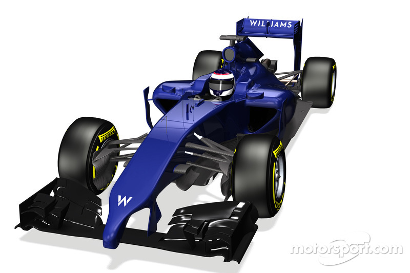 Williams reveals first image of the Williams Mercedes FW36