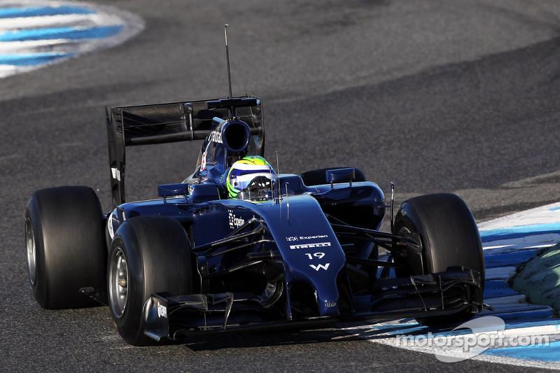 Williams' Massa happy after his first day test at Jerez