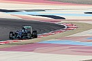 Mercedes' Rosberg makes the fastest lap of the four-day test at Bahrain