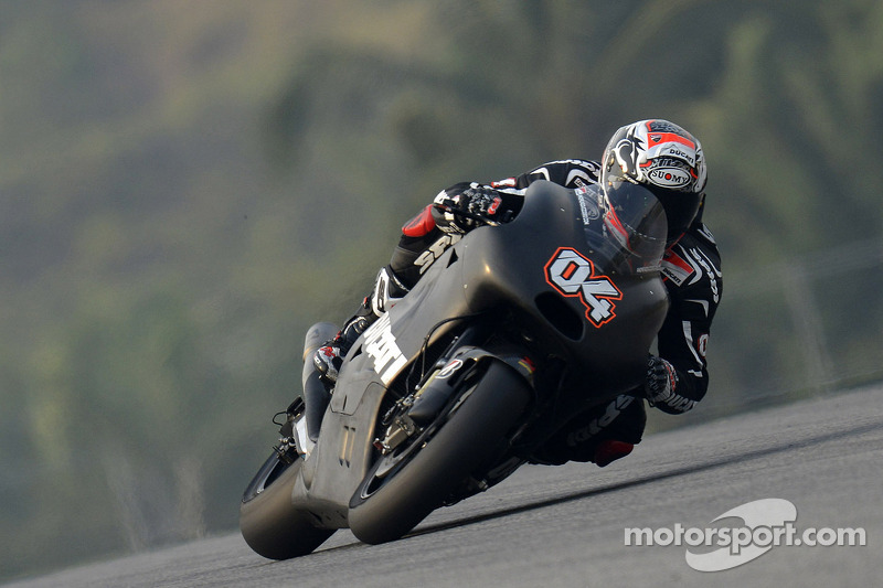 Development work continues for the Ducati Team on day 2 of testing at Sepang