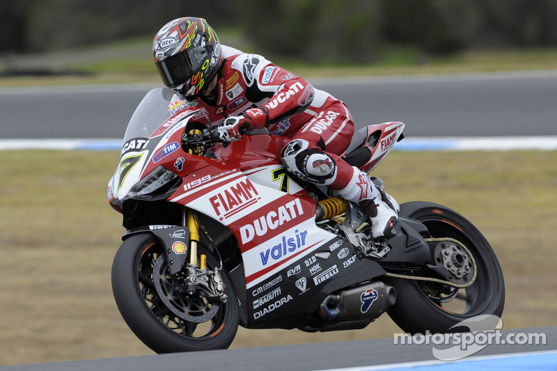 A bittersweet day for the Ducati Superbike Team at Motorland Aragon