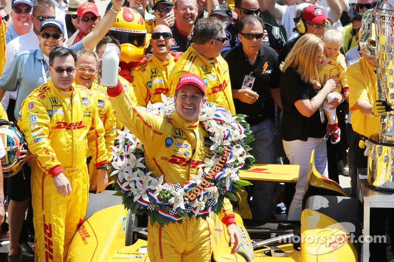 Show me the (milk) money: RHR gets $2,491,194 for Indy 500, Johnson gets $465,626 for NASCAR win