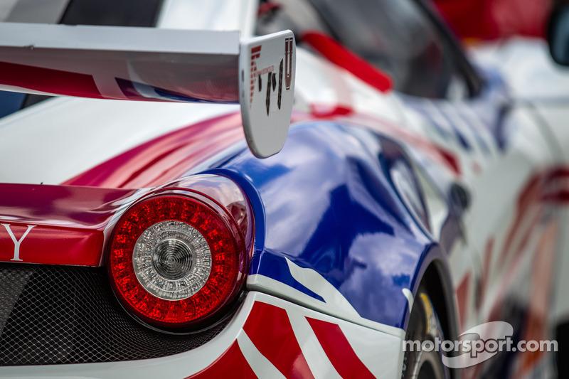 The AF Corse Ferraris ready for Le Mans