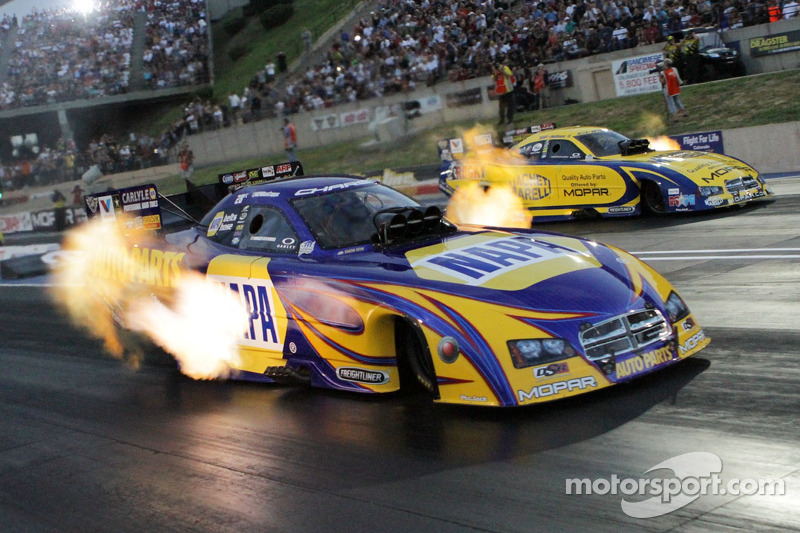 Ron Capps spends his off weekend from racing -- racing