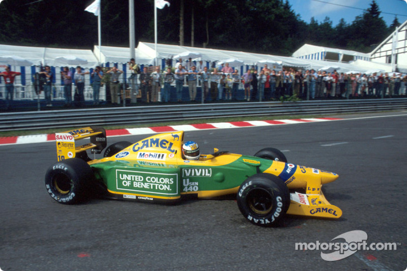 Schumacher Benetton on display at Goodwood Festival of Speed