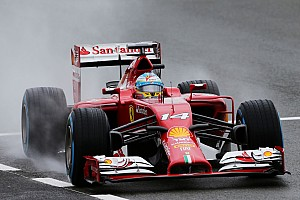 Formula 1 Race report Rain on Ferrari parade at Silverstone