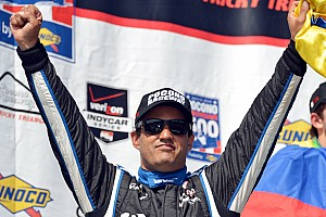 IndyCar Race report Montoya takes first IndyCar victory since comeback at Pocono