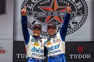 IMSA Race report Pruett holds off late charge from Brundle to win at COTA