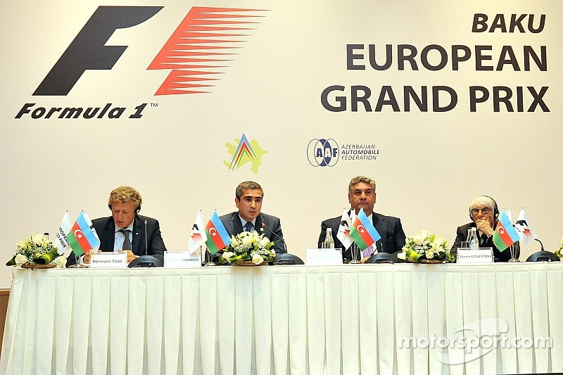 Bernie Ecclestone unveils Azerbaijan GP track layout - photo