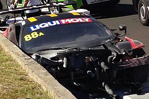 Endurance Breaking news Violent accident during Bathurst 12 Hour practice takes out defending race winners