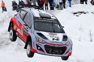 WRC Leg report Strong start for the Hyundai Motorsport trio in Rally Sweden's winter wonderland