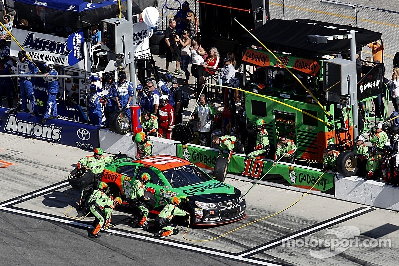 It's a hand slap for Danica Patrick's team