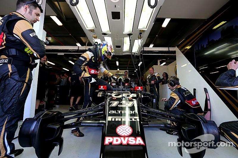 Maldonado says Lotus close behind Ferrari, Williams