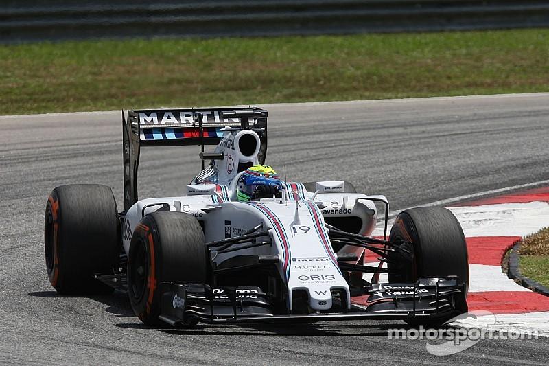 Williams travaille énormément mais souffre avec les pneus