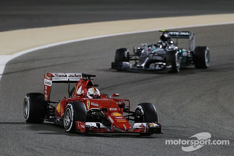 Vettel dice que Ferrari está alcanzando a Mercedes