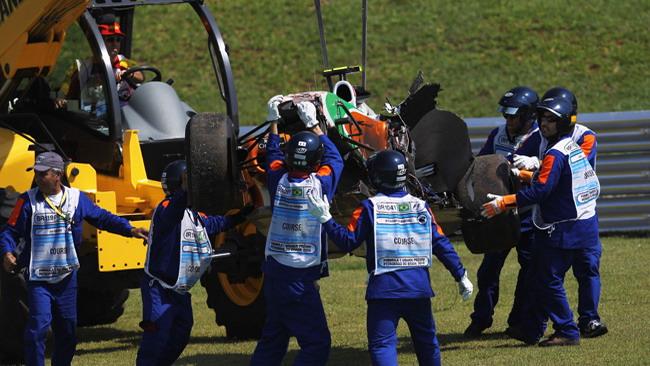 Liuzzi ha rischiato di infortunarsi nel crash in Brasile!