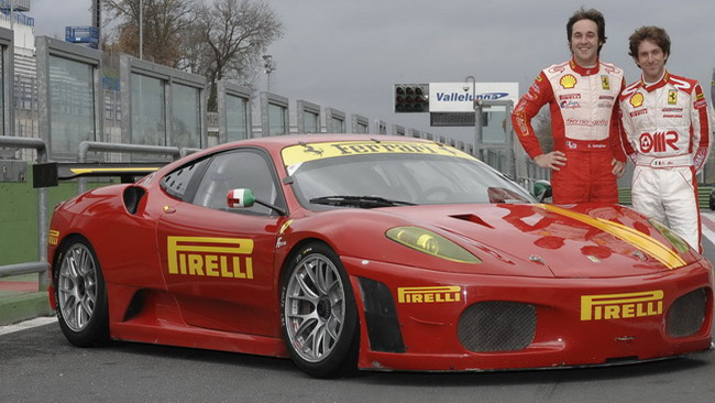 Sernagiotto alla 6 Ore di Vallelunga con una Ferrari