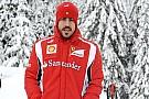 Lieve infortunio per Alonso: niente sci al Wrooom